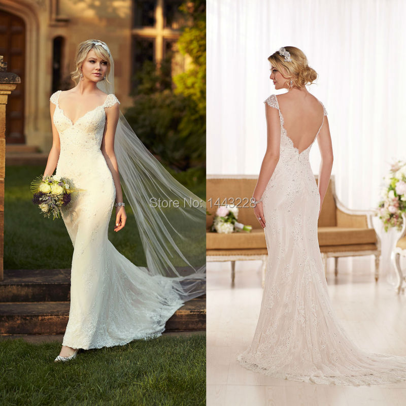 Popular Vintage Inspired Lace Wedding Gown-Buy Cheap Vintage ...