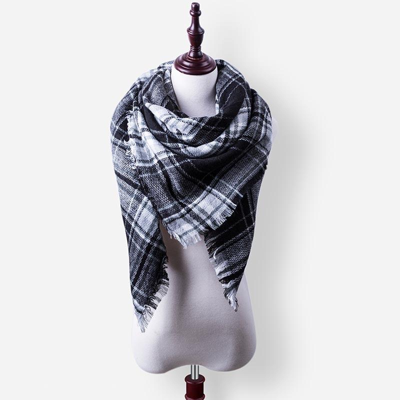 Бренд Evrfelan, шарфы, Прямая поставка, женский зимний шарф, высокое качество, плед, одеяло, шарф и шаль, большой размер, плотные шарфы, шали - Цвет: W27