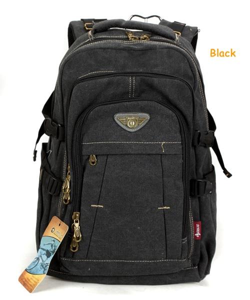 Man's Canvas Backpack Travel Schoolbag Male Backpack Men Large Capacity Rucksack Shoulder School Bag Mochila Escolar 4