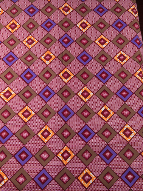 Vogue African Fabrics Real Wax Red Yellow Blue Geometric Designs 6 ...