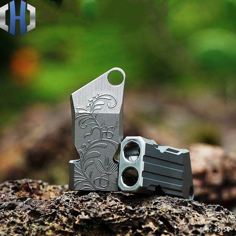 Titanium Alloy Survival Whistle Rescue Metal Treble Wild Outdoor Equipment