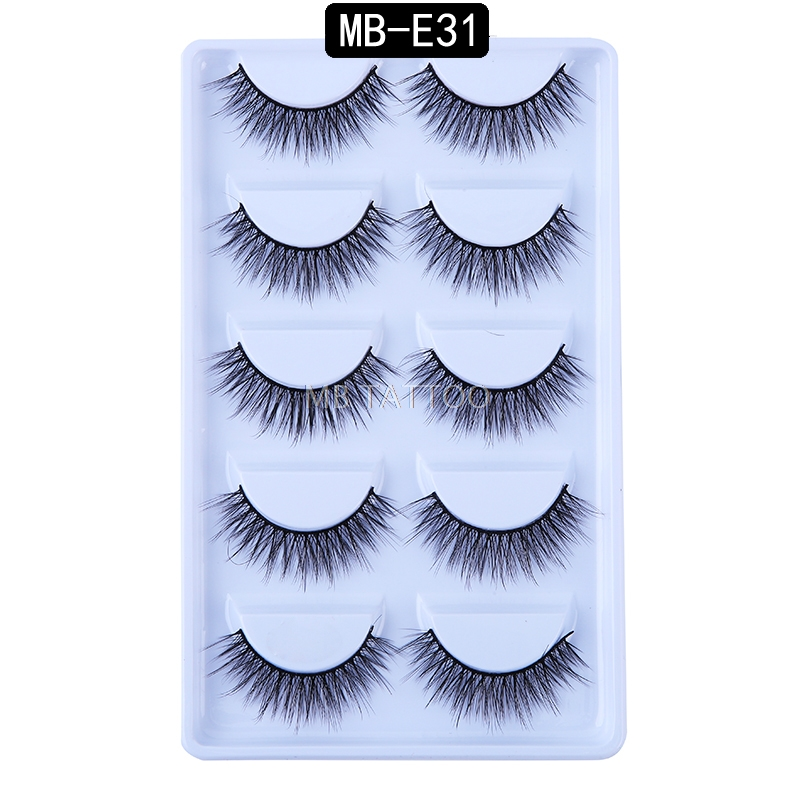 HTB1gDhgRhnaK1RjSZFtq6zC2VXau New 3D 5 Pairs Mink Eyelashes extension make up natural Long false eyelashes fake eye Lashes mink Makeup wholesale Lashes