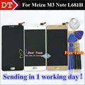 "Pantalla lcd + asamblea de pantalla táctil digitalizador para meizu m3 note l681h celular 5.5 ""negro/blanco/color de oro"