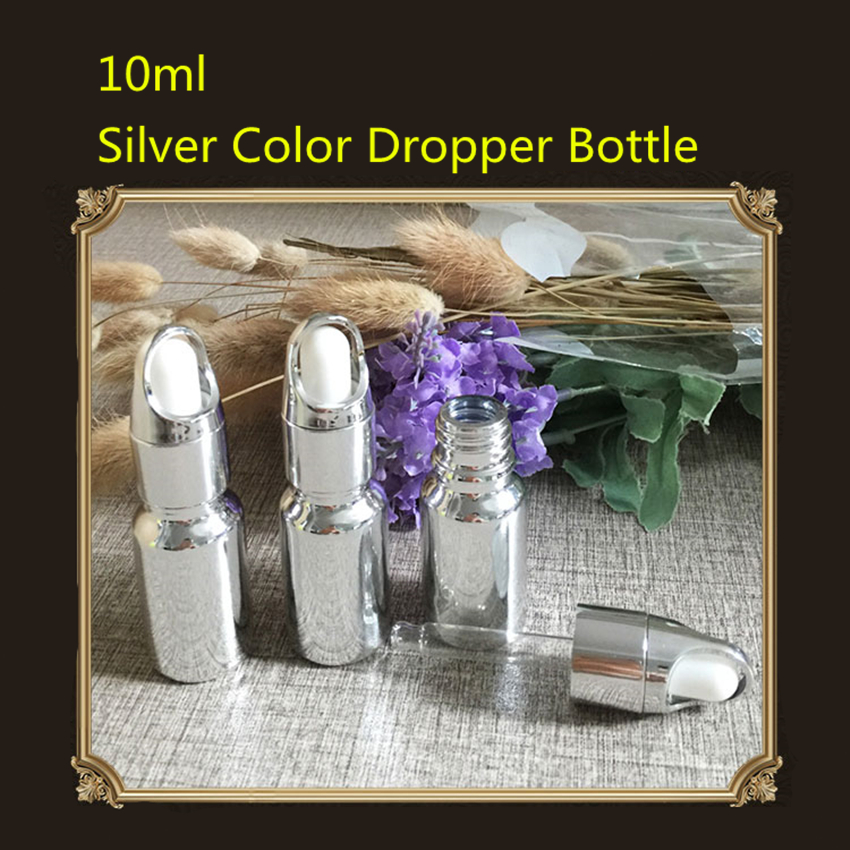 30PCS Fashion Essential Oil Bottle Gold Color Silver Color Glass Dropper Bottle Glass Bottle Luxury Style 10ml 15ml 30ml 20ml-in Refillable Bottles from Beauty & Health    1
