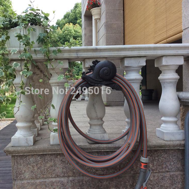 on Tree Hose Pipe Reel Rope Holder Garden Hose Hanger Yard Patio Lawn Wall Mounted Hose Organizer Rust Free Ship