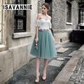 Sage 5 layer Swiss Soft Tulle Skirt Hidden Zipper Band 5cm Width Adult Tutu Women Autumn Style High Waisted Saia Jupe Ball Gown