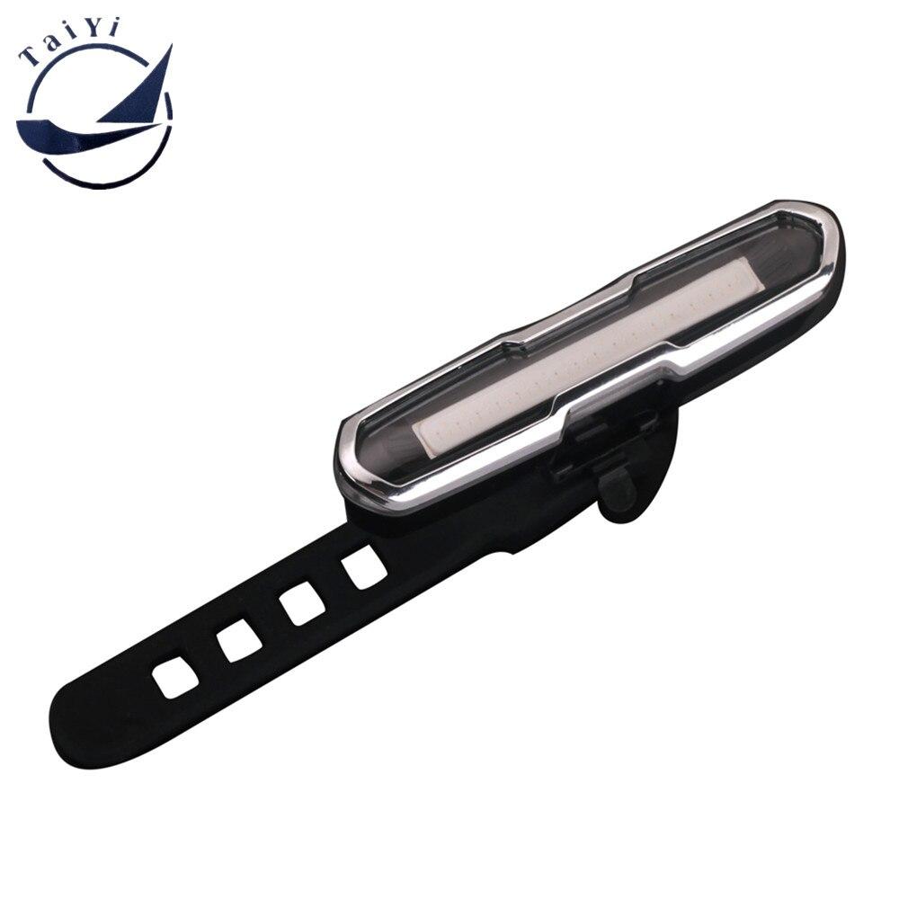5 režiimi topeltvärv punane / sinine USB laetav super helge COB LED jalgratta jalgratta jalgrattaga tagumine tagatuli