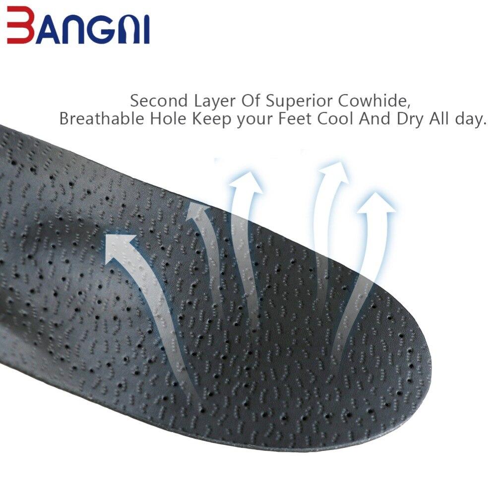 db21703e 3 ANGNI de cuero ortopédicos plantillas de silicona ortopédicos pies planos  dolor en el talón soporte de arco para hombre, mujer de plantillas de  zapatos ...