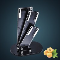 High quality stainless steel knives Acrylic block holder, knives stand holder block for three knives in free shipping