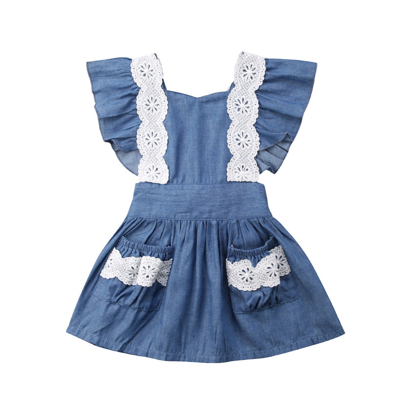 Toddler Children Kids Baby Girl Dress Summer Sleeveless