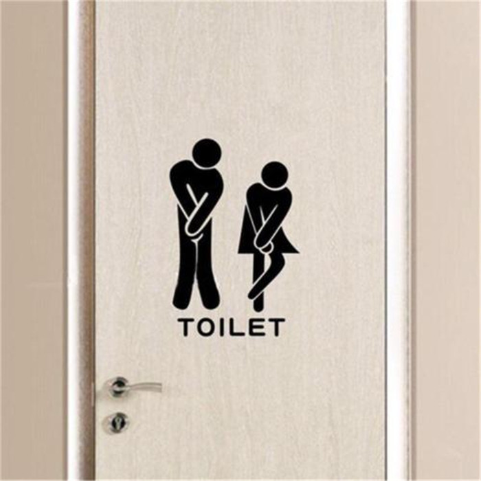 Aliexpress 4pcs Set Removable Fuuny Diy Toilet Men Women Wc Bathroom Door Gl Art Vinyl Home Decals Decor Wall Stickers For Tile D862 From