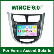 Car DVD Player GPS Video for Hyundai Verna Accent Solaris 2011 2012 2013 with Radio BT support Wifi 3G Ipod