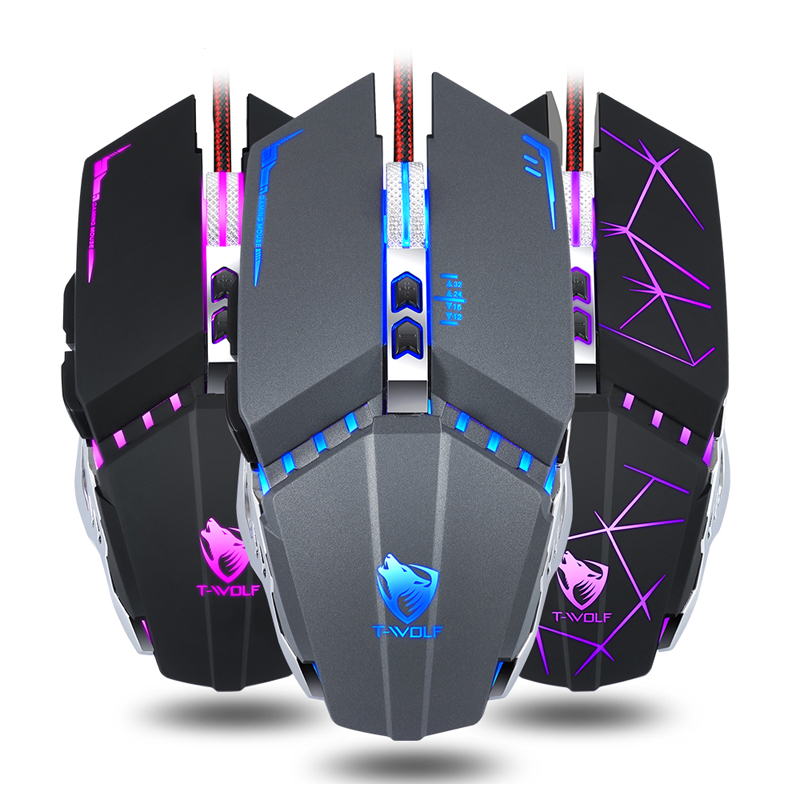 Professional Wired Gaming Mouse 7 Button 3200DPI Optical USB Wired LED Computer Mouse Gamer Mice V7