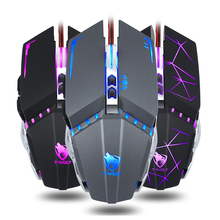 Professional Wired Gaming Mouse 7 Button 3200DPI Optical USB Wired LED Computer Mouse Gamer Mice V7 Game Ergonomic Mause for PC optical gaming mouse professional 3200dpi adjustable 6 buttons 6d pro pc computer mice usb wired led light mouse gamer black