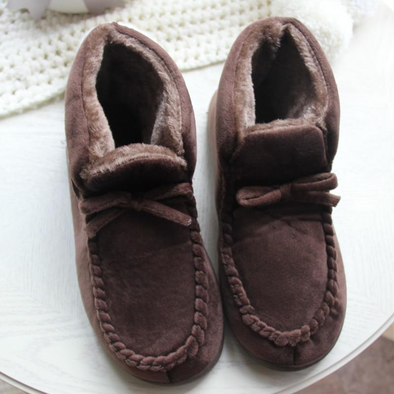 Zapatos de mujer para el piso en casa Suave, corte alto, amante, - Zapatos de mujer - foto 5