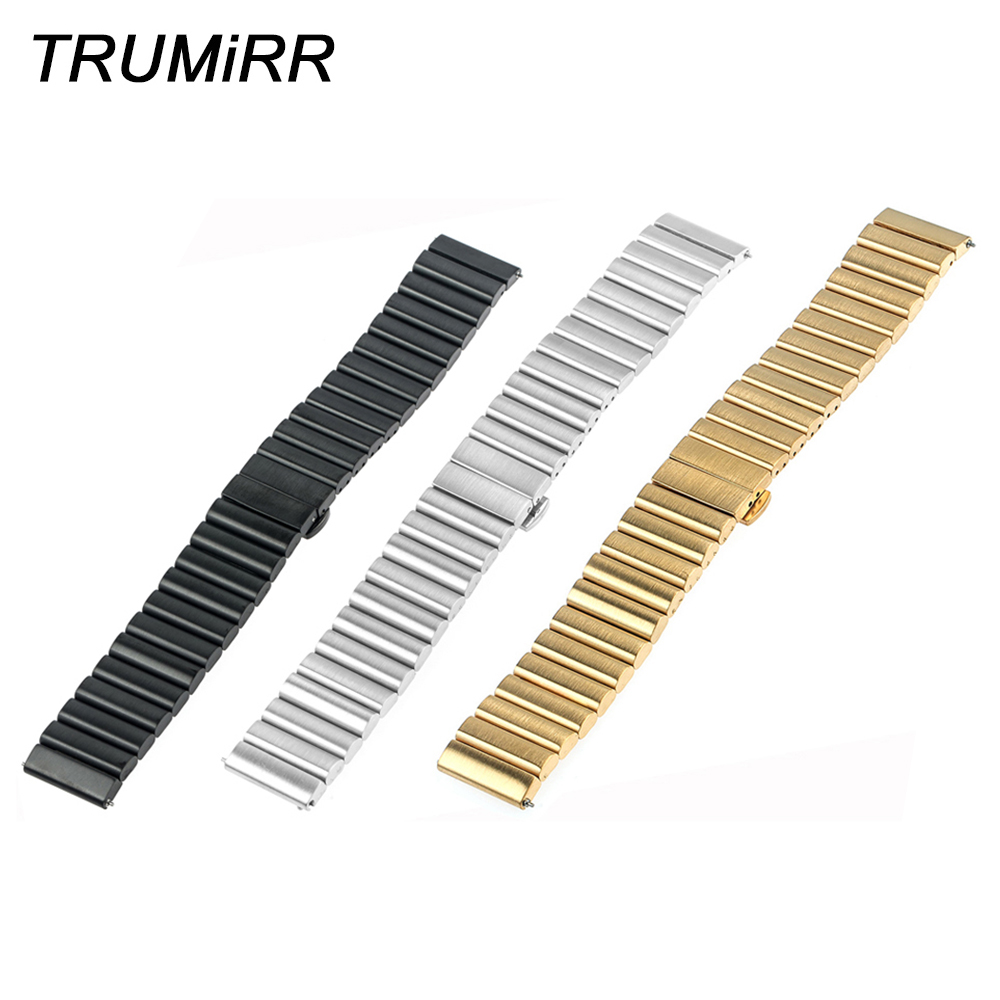 20mm 22mm Universal Stainless Steel Watchband with Quick Release Pin Upgraded Link Remover Band Bracelet Strap Black Gold Silver quick release stainless steel watchband 18mm 20mm 22mm universal watch band replacement strap wrist bracelet black gold silver