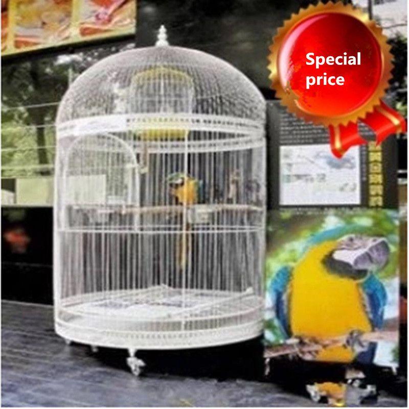 Cage à oiseaux décorative européenne en fer forgé perroquet starling atterrissage grand type armoire fenêtre accessoires en fer forgé grande cage à oiseaux