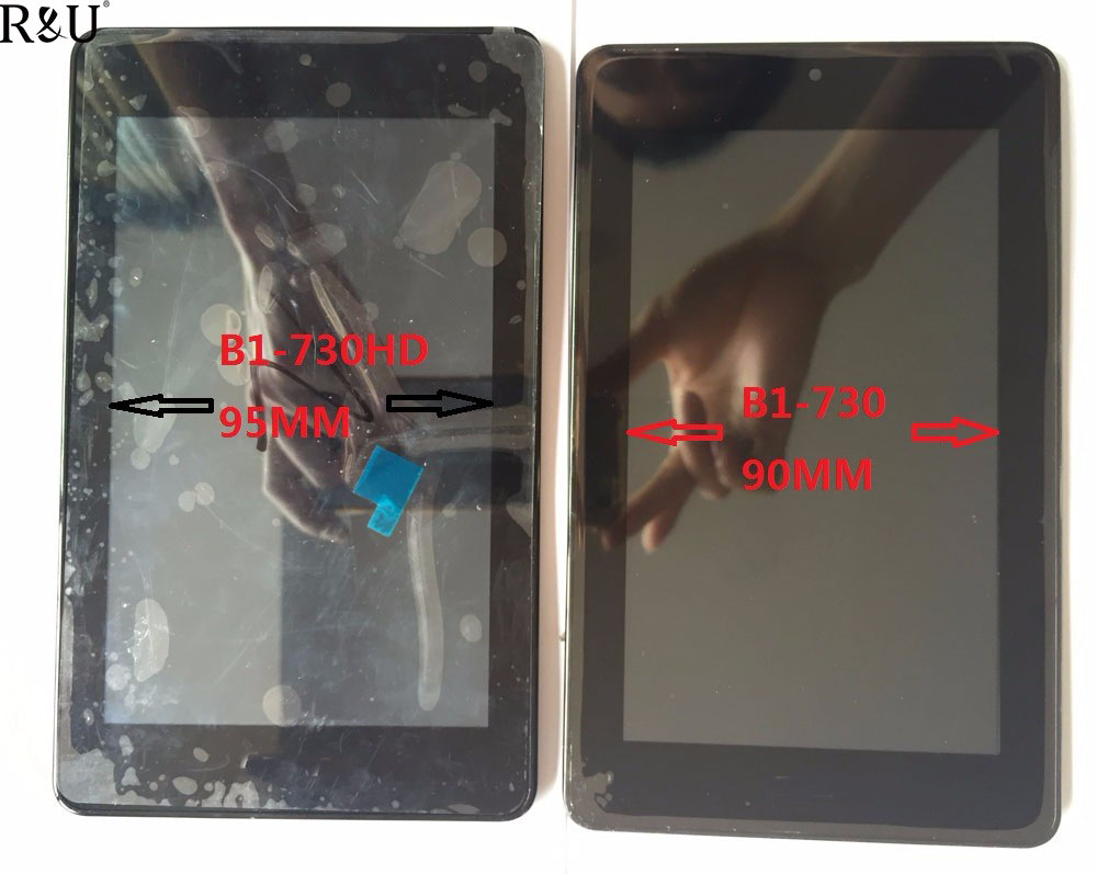R&U 7 Inch used parts LCD Display Digitizer & TOUCH SCREEN with frame assembly in stock for Acer Iconia One 7 B1-730