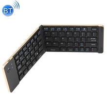 KuWfi Bluetooth 3.0 Folding  Wireless Keyboard Foldable Aluminum Alloy 66keys For IPhone iPad iOS Android phone Tablet