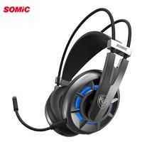 Somic G939Air Virtual 7,1 Surround стерео игровая гарнитура беспроводной наушники с микрофоном для портативных компьютеров PC
