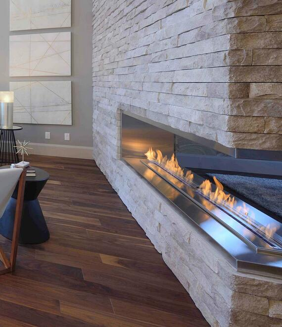 72 Inch Intelligent Smart Real Flame Wifi Ethanol Electric Fireplace Insert Heater
