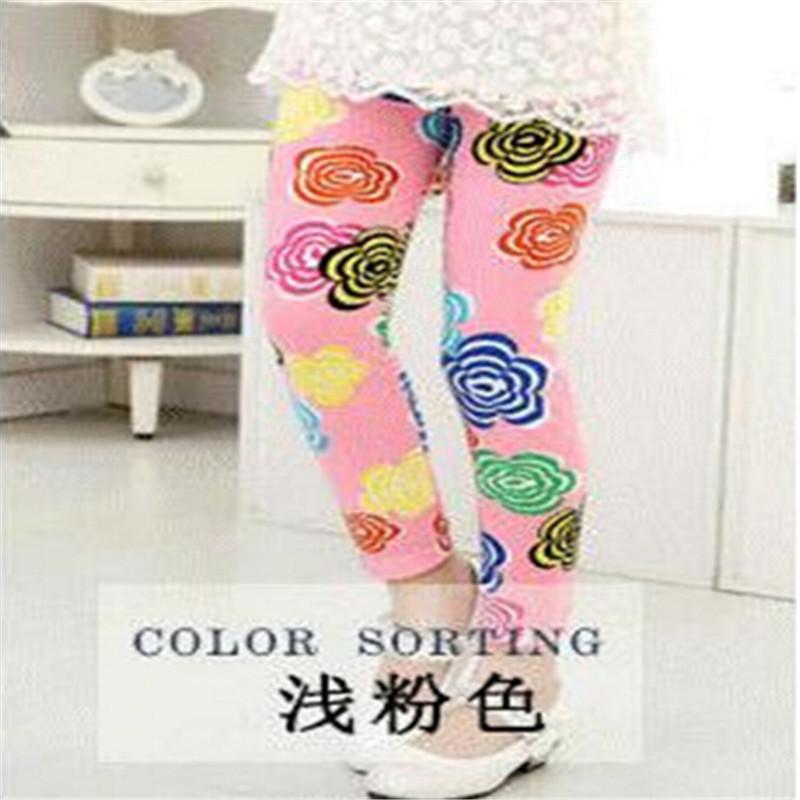 New Style Spring Autumn Children Leggings Flower Butterfly girls pants kids legging 15
