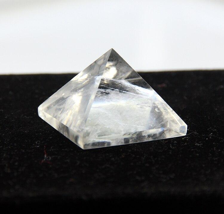 2015 Blanc crystal clear quartz rock Gravé 30mm Pyramide point pilier Sculpté Pierre Chakra Pierres de Guérison Reiki Livraison gratuite