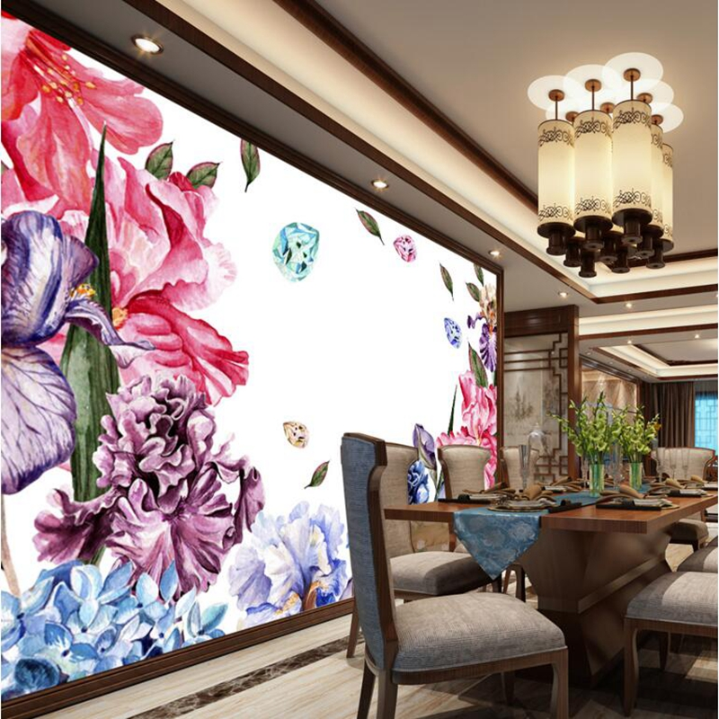 3d Desktop Wallpaper Girls Wall Mural Hand Painted Watercolor Flower Wallpaper for Walls Wallpapers and Backgrounds Room Decor