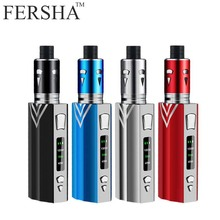 FERSHA electronic cigarette 100W high power vape mod kit box Beginner's guide 2000 mha battery 2ml 0..5 0hm atomizer Three-speed