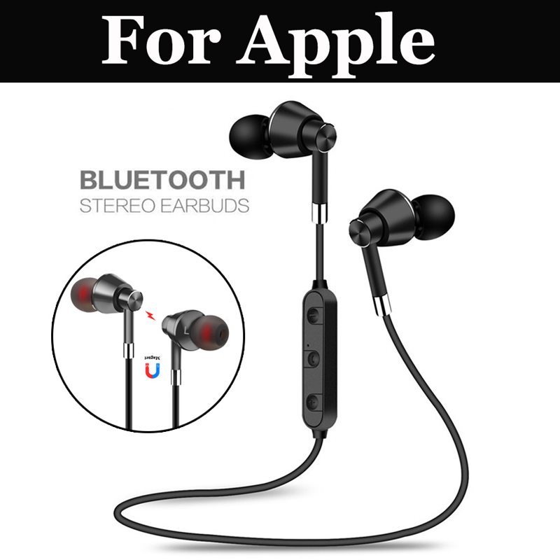 Sports Bluetooth Earphone Wireless Earbud Stereo Headset With Mic For Apple Iphone 7 7 Plus Se 8 8 Plus X Xs Xs Max Xr Bluetooth Earphones Headphones Aliexpress