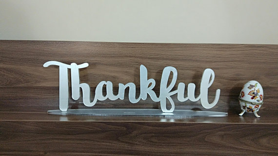 US $18 26 13% OFF|Thankful Plate, Acrylic Sign, Acrylic Letters, Laser Cut  Signs, Wedding Sign, Wedding Decor, Name Plaque,-in Party Direction Signs