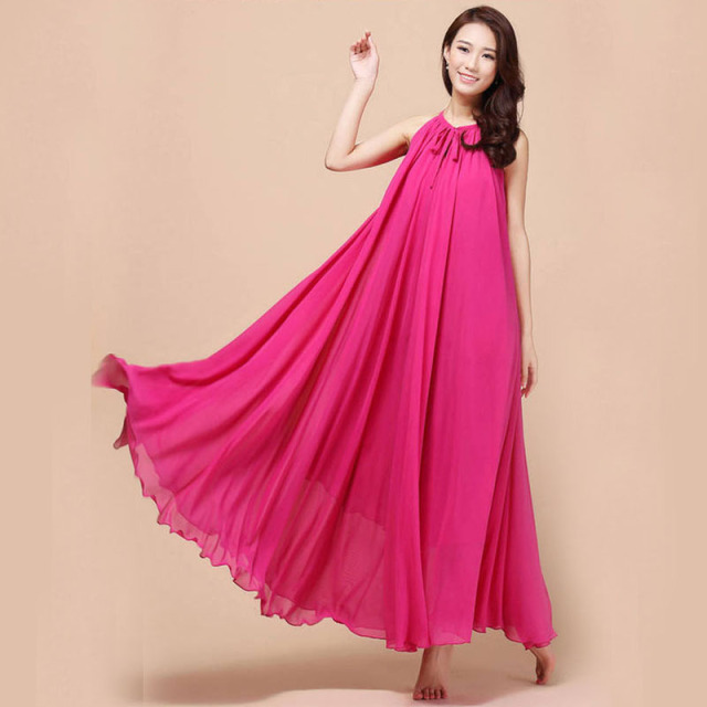 New summer Maternity Dresses Long Chiffon Bohemian Dress Clothes For ...