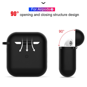Image 3 - Solid Color Silicone Case for Airpods 2 Cute Protective Earphone Cover for Apple Airpods 2 Wireless Charging Box Shockproof Case
