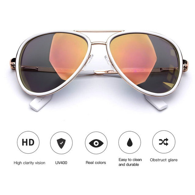 Vintage Pilot Fashion Coating Sun Glasses