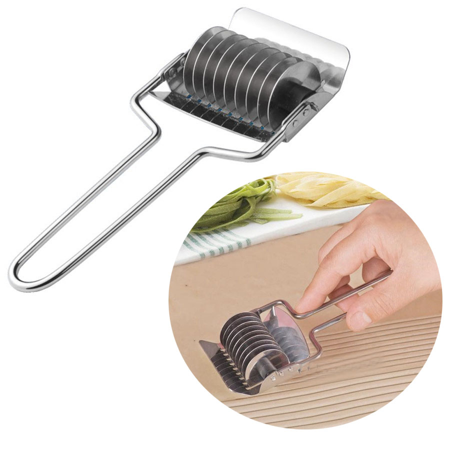 Small Stainless Steel Noodle Lattice Roller Docker Dough Kitchen Cooking Pasta Tools Cutter Spaghetti Maker