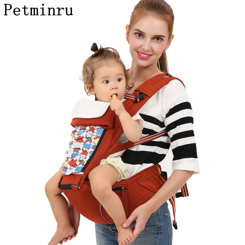 Petminru Comfort Hipseat Baby Carrier Portable Baby Sling Backpack For Newborn and Prevent o-type Legs baby carriers kid sling multi function portable comfortable cotton baby carrier sling bag deep blue white