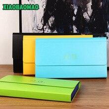 Дешевые Корея канцелярские отлично прекрасный Карамельный цвет файла расширение папки 8 индекс portadocumentos Документ сумка офис 260x147x26 мм