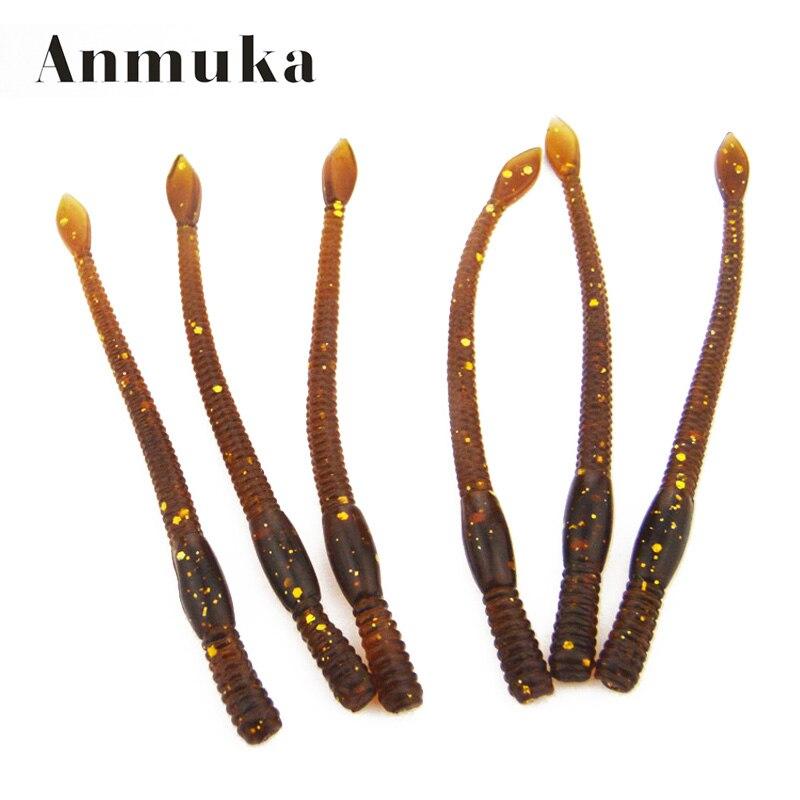 Anmuka 20pcs/lot 7.5cm 1g Plastic Soft Lure Artificial Fishing EarthWorm Fishing Baits Bionic Worms Trout Fishing Lures lifelike earthworm style fishing baits 5 pcs