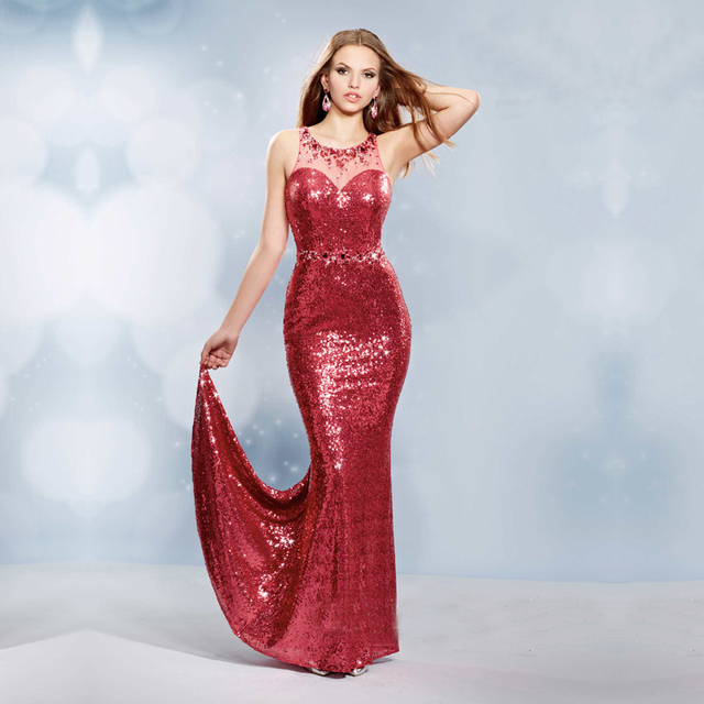 Red with Silver Evening Dresses