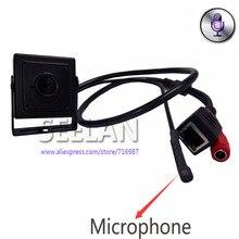 Мини Аудио видео камера 1.3 мегапиксельная мини ip-камера H.264 3.7 мм мини пинхол объектив с микрофоном камеры для 960 P 3518E