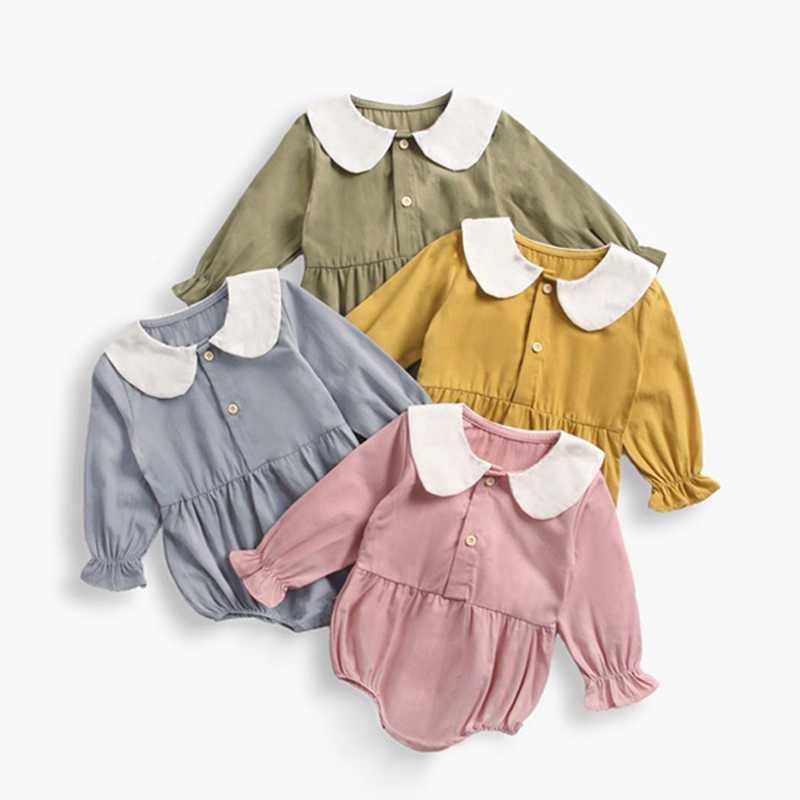 Baby Clothes Outdoors Boy Long Sleeved Climbing Clothing Cotton Bodysuit Baby Children Pink Bodysuit Baby Clothes