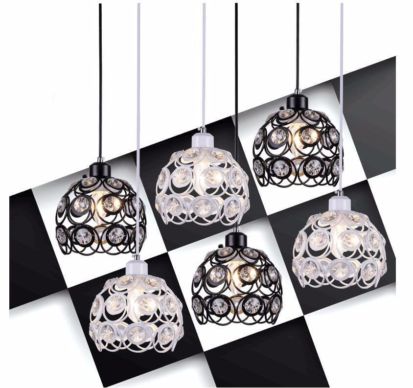 Современный K9 хрустальные люстры белый/черный светодиодные лампы для гостиной, столовой, светодиодные люстры E27 блеск светильник люстра Z50