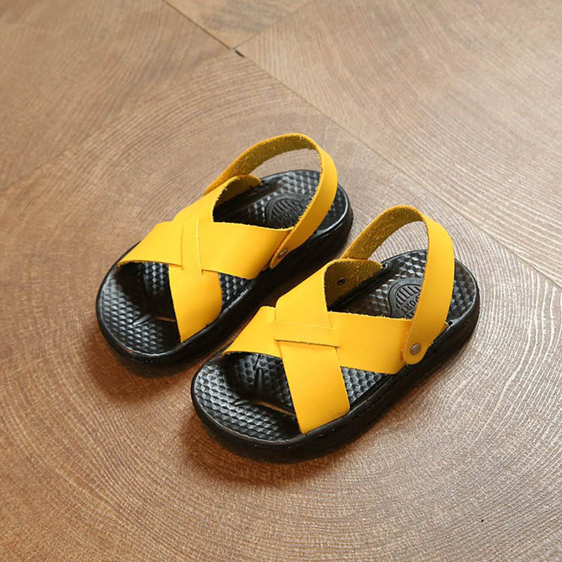 2019 High Quality Kids Boys Shoes Summer Baby Shoes For Girl Non-slip Kids Girl Sandals Baby Boy Shoes PU Leather