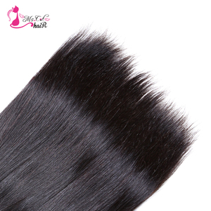 "Image 5 - MS Kat Haar Braziliaanse Steil Haar 1/3/4 Bundels 100% Human Hair Weave Bundels Natuurlijke Kleur 8 "" 26"" Remy Hair Extensions"