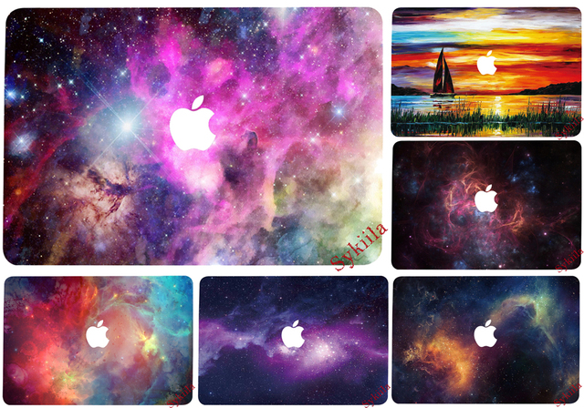 Stars Universe Colorful Sticker For Macbook Air 11 12 13 Pro 13 15 Retina Skin Protective Poster Beautiful Picture Galaxy Cute