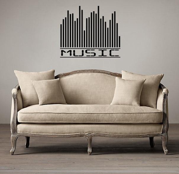 US $9.99 |Compensatore di musica decorazione della casa decalcomanie di  arte della parete soggiorno carta da parati decorativa soggiorno adesivo ...