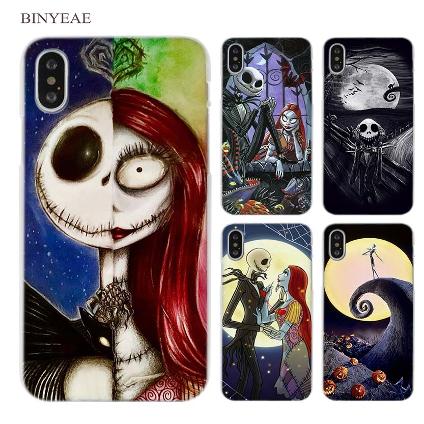 112039aee The Nightmare Before Christmas Clear Cell Phone Case Cover For Apple Iphone  X 6 6S 7 8 Plus 4 4S 5 5S SE 5C