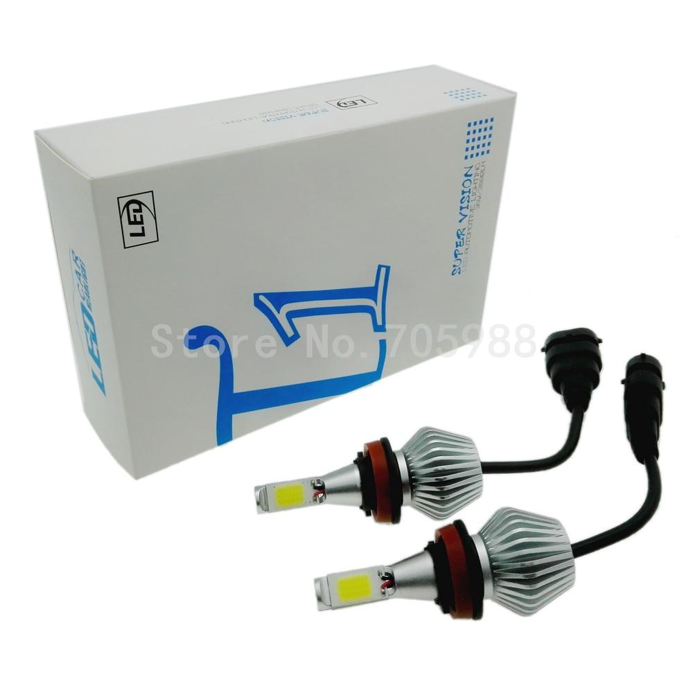 Prix pour 2 pcs 36 W 12 V COB Led Faisceau Feux De Remplacement de jour DRL brouillard Phare Conversion kit Ampoule H1 H3 H4 H7 H8 H11 9006