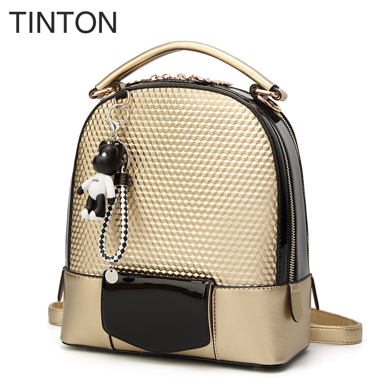 2018 new fashion backpack woman large capacity ladies school bag diamond lattice top-handle shoulder bags zipper pu back pack