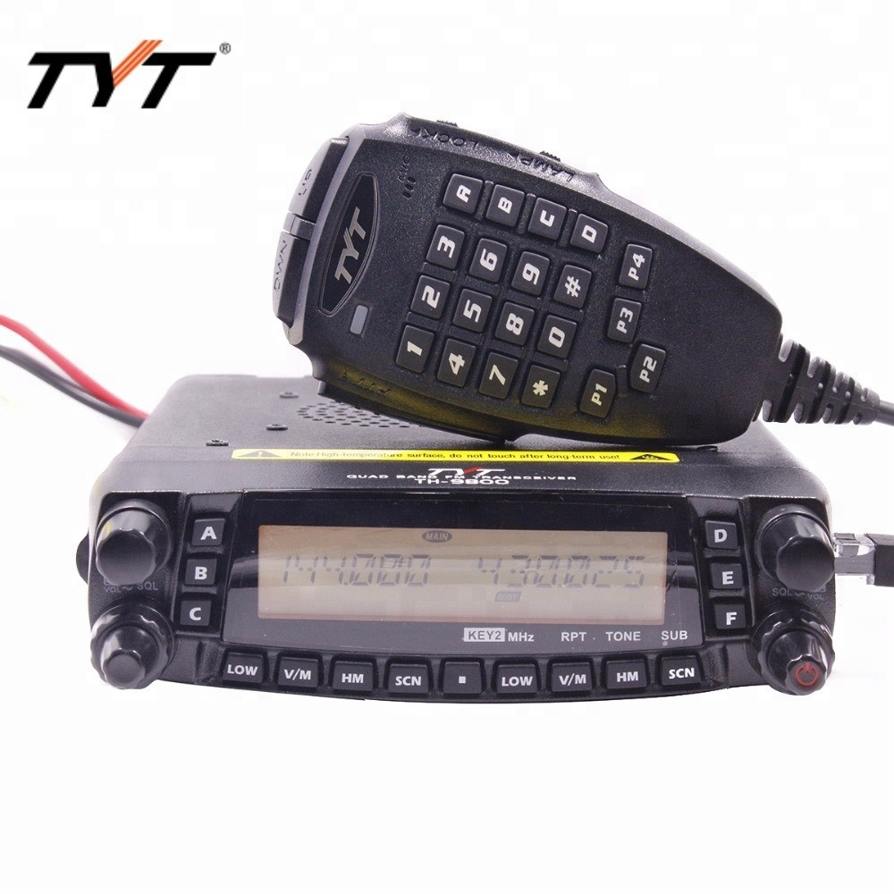 HOTTEST!!!TYT TH 9800 long distance car radio mobile walkie talkie 100KM Coverage VV,VU,UU Quad band Two way radio Repeater-in Walkie Talkie from Cellphones & Telecommunications